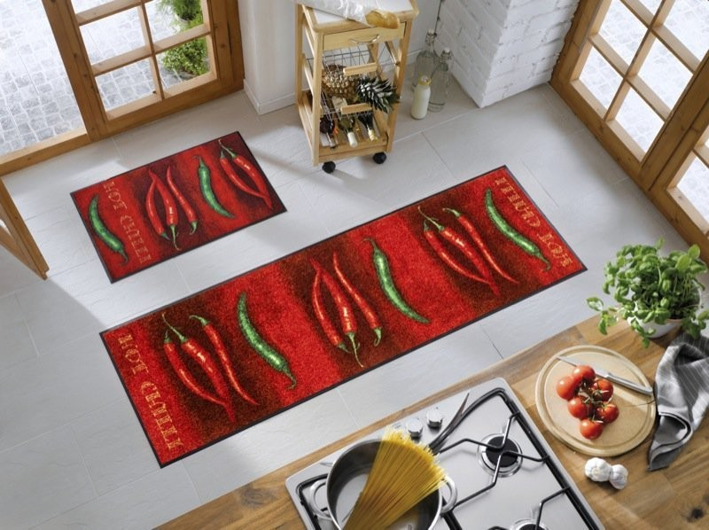 Wash and dry du c t de chez fanny for Tapis de cuisine orange