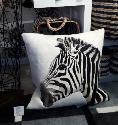 Coussin Iosis zebre