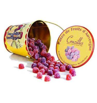 seau framboisettes myrtillettes fraisettes cruzilles