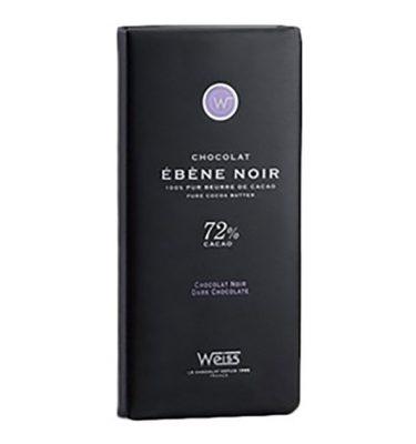 Tablette ebène noir 72% weiss