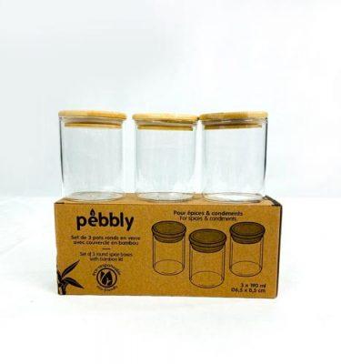 3 boites Pebbly