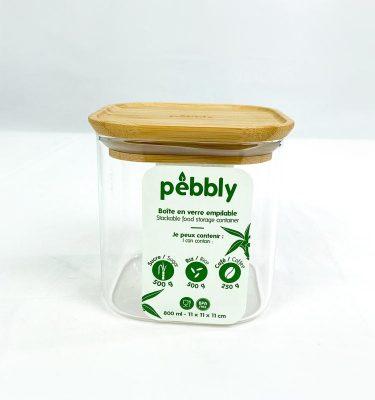Boite verre carré Pebbly
