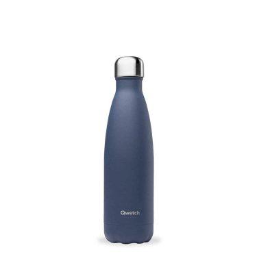 bouteille isotherme qwetch original granité bleu 500ml