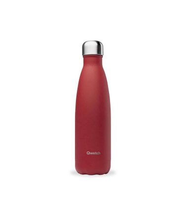 bouteille isotherme qwetch original granité rouge 500ml