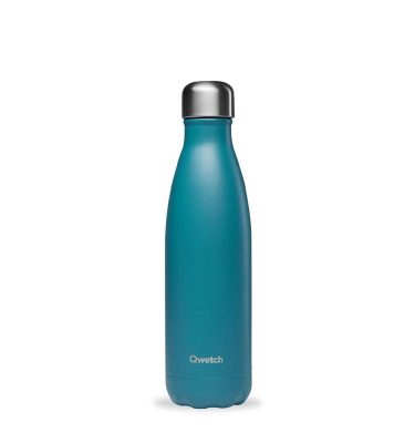 bouteille isotherme qwetch original granité turquoise 500ml