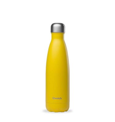 bouteille isotherme quetch jaune pop 500ml
