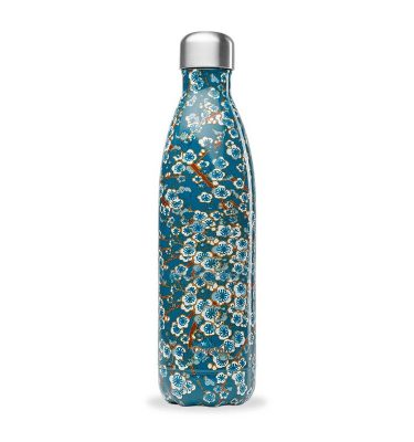 Bouteille isotherme Qwetch Fleurs Bleues 750 ml