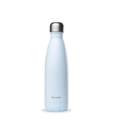 bouteille qwetch Pastel bleue 500ml