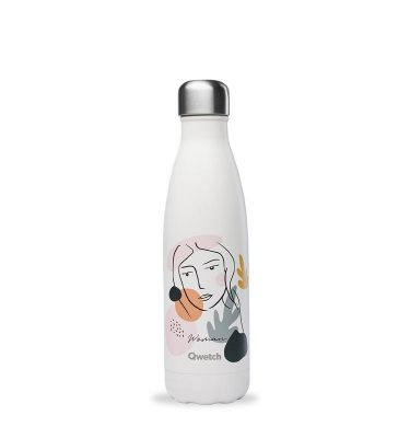 bouteille isotherme qwetch-woman octobre rose 500ml
