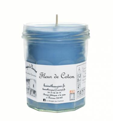 Bougie senteur Fleur de Coton - Les Bougies de Charroux