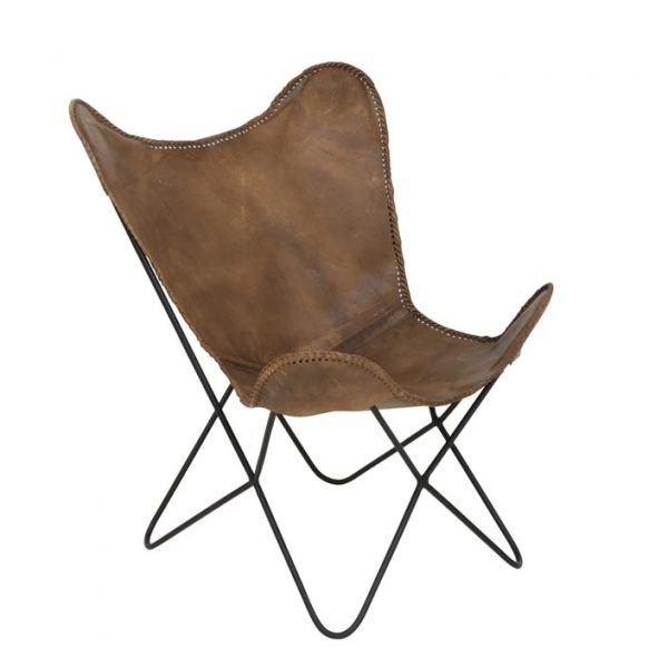 Fauteuil papillon cuir Light& living