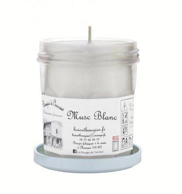 Bougie senteur Musc Blanc - Les Bougies de Charroux