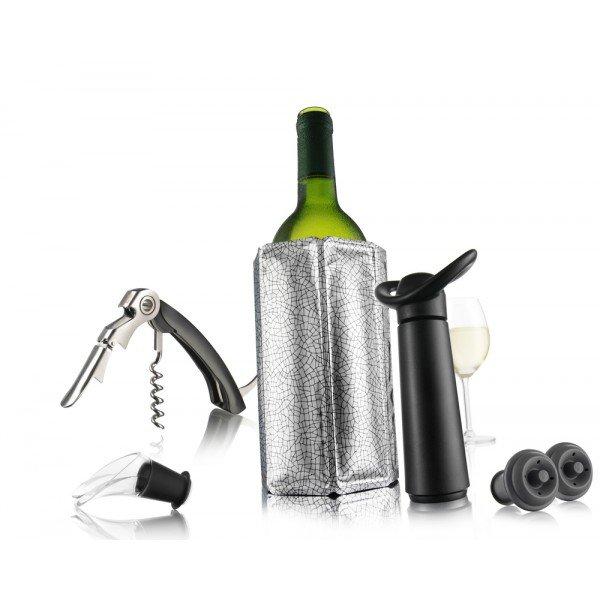 Coffret vin essentiel noir - Vacuvin