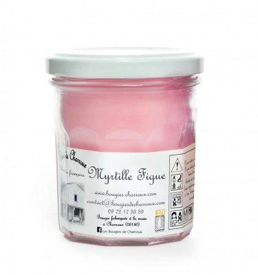 Bougie senteur Myrtille figue - Les Bougies de Charroux