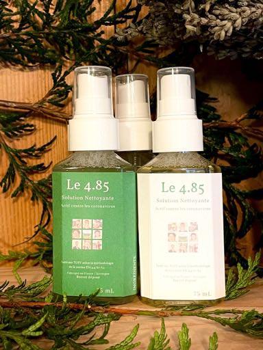 Spray solution naturelle nettoyante anti-covid - La Savonnerie de la Goutte Noire