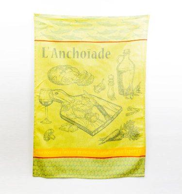 Torchon vert coton anchoiade - Sud étoffe