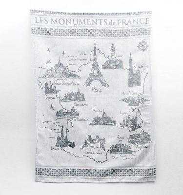 Torchon les monuments de France Sud étoffe