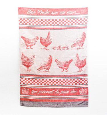 Torchon poule rouge Sud étoffe